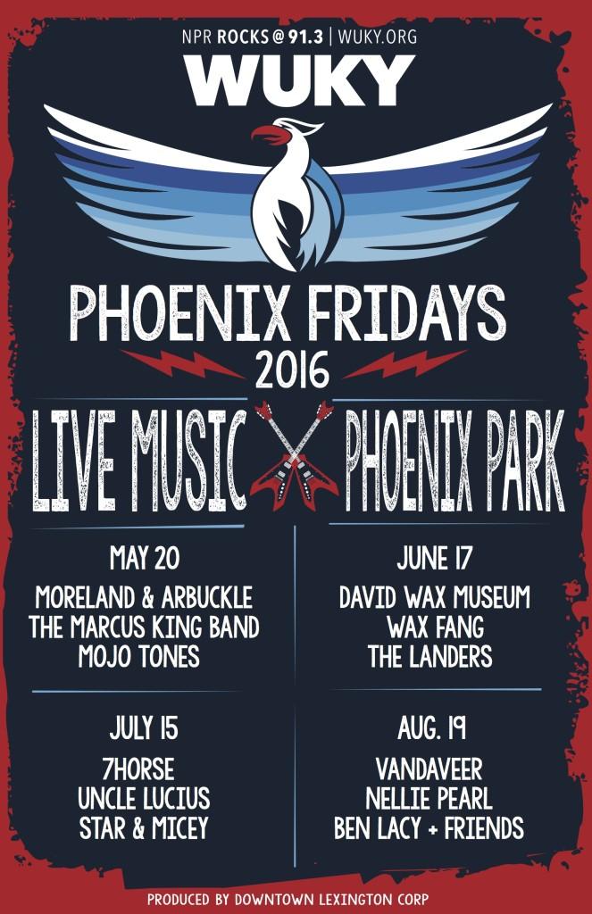 Phoenix Fridays 2016 Lineup