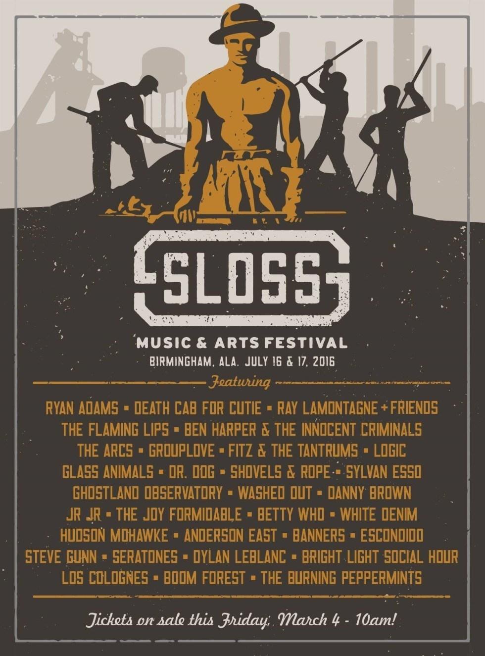 Sloss Fest 2016 Lineup