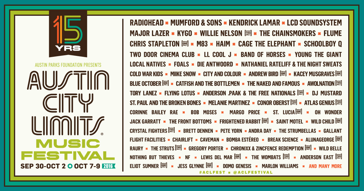ACL 2016 Lineup