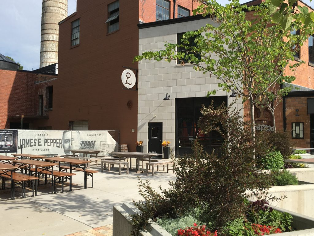 The patio outside of Ethereal Brewery and Middle Fork Kitchen.