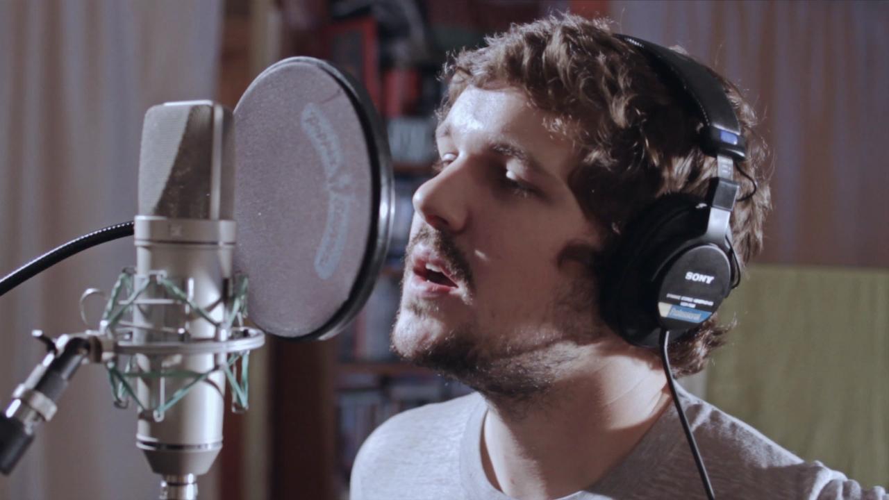 Matt Duncan in the studio